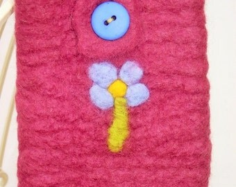 Forget-me-not Felted Phone case