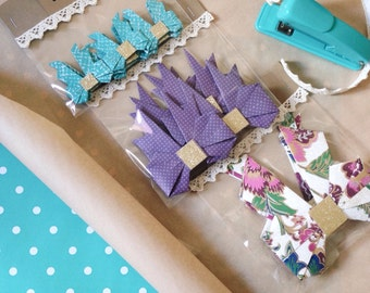 Handmade Origami Bows for unique gift wrapping-Birthday-Holidays