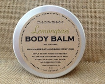 Lemongrass Body Balm - made with Shea & Mango Butter, All Natural, 8oz