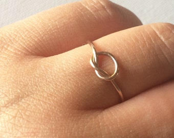 Rose Gold Delicate Knot Ring