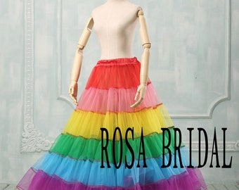 Multi color prom pettiskirt, Wedding Petticoat, Bridal pettiskirt, Tutu Pettiskirt Custom