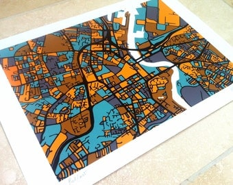 Belfast  Art Map - Limited Edition Contemporary Giclée Print