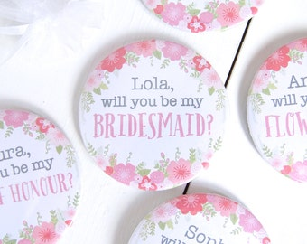 Personalised 'Be My Bridesmaid?' Mirror - be my bridesmaid - will you be my bridesmaid - bridesmaid gift - personalised bridesmaid gift