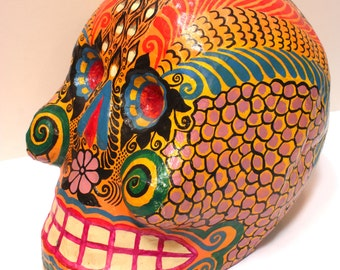 Price Reduced:  Dia de Muertos, Day of the Dead Skull from Mexico