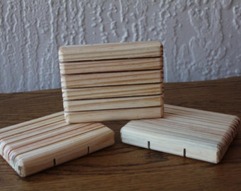 All Natural Pine Wood Soap Dish