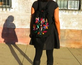 """Otomi embroidered """"back-pack"""" style purse (padded inside for safer carryon of computers, ipads, other) #sociallyresponsible #sustainablebiz"""