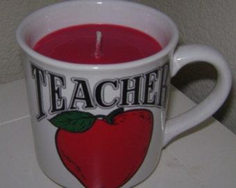 Apple Jack N Peel Teacher Coffee Cup Candle