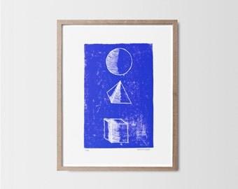 Primitives - Linocut - Engraving - Art poster - Graphic design