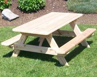 Delightful Red Cedar Classic Kids Picnic Table