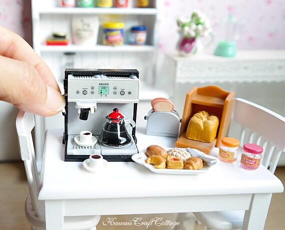 Dollhouse Miniature Food Coffee Expresso Machine Doll Fake