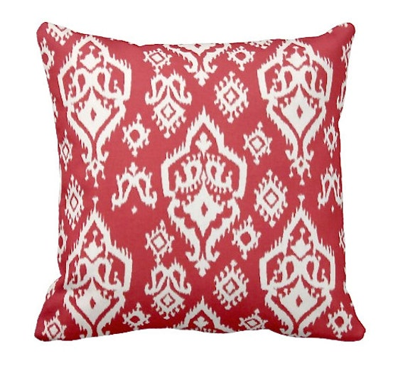 Standard Throw Pillow Cover Sizes : 7 Sizes Available: Red Throw Pillow Cover by ReedFeatherStraw