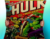 The Incredible HUlk Wolverine Comic Cover - Cushion / Pillow Cover / Panel / Fabric