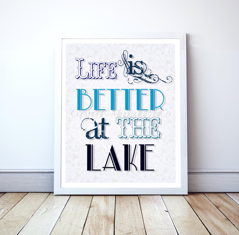 Lake House Decor Printable 8x10 Lake Decor By MinnesotaPrintCo