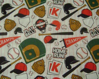 Homerun Snuggle Flannel Fabric Sold by the Yard