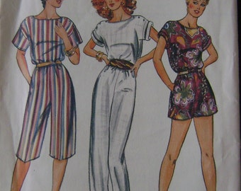 VINTAGE Butterick Pattern 4301 Misses' Jumpsuit