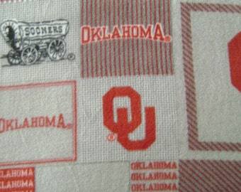 OU Gray Team Fleece Fabric by the yard