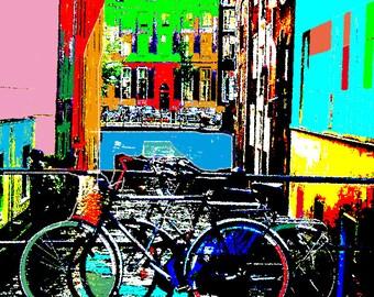 Fotografia  Original  Digital / Amsterdam / Canales / Bicicletas  Color / poster / by elsellu
