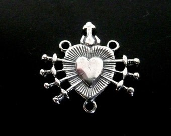 Reproduction Sterling Silver Rosary Connector