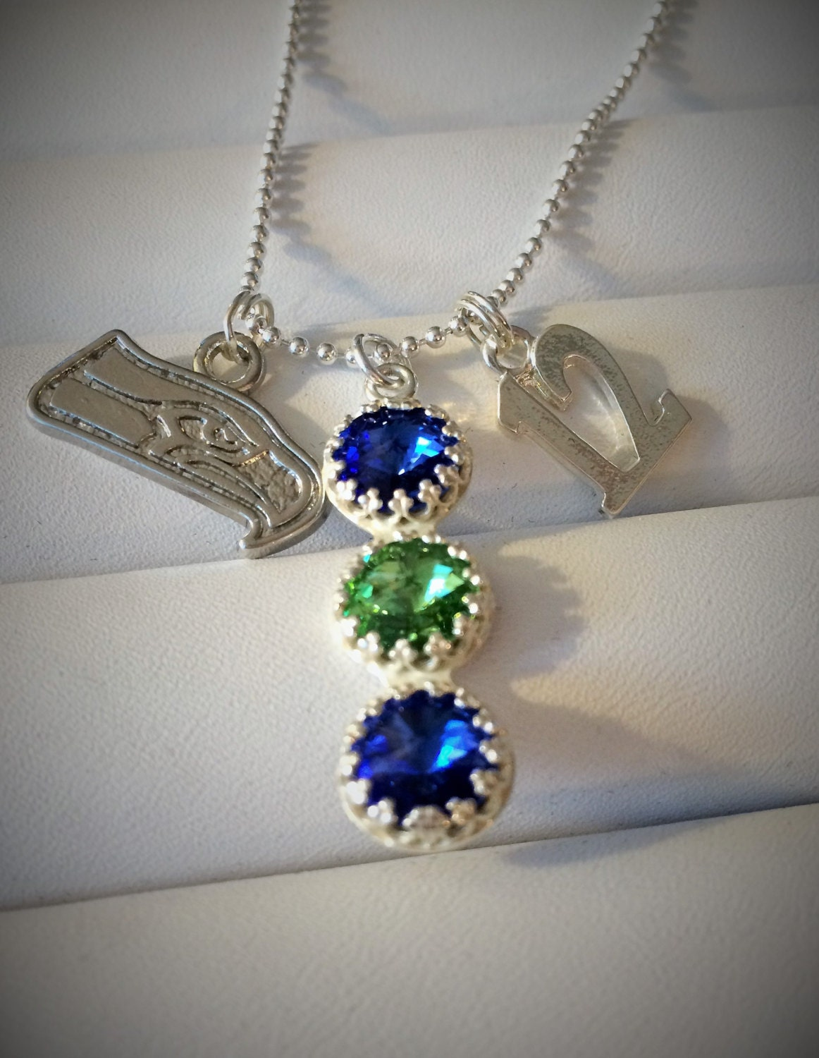 seahawks jewelry seattle seahawks charrn pendant necklace swarovski 9377