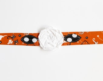 UT Longhorn - Fabric Flower Headband
