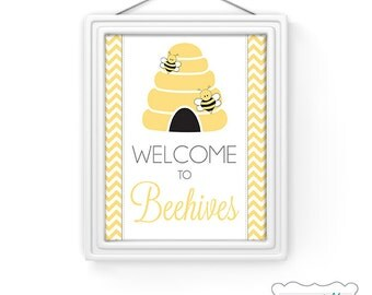YWP001 - LDS Young Women Welcome To Beehives Printable Card and Print Multiple Sizes 4x6 5x7 8x10