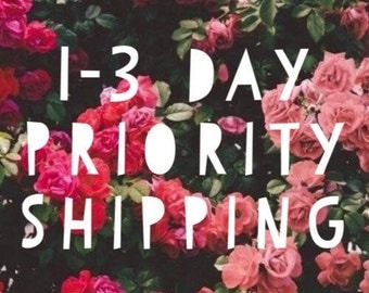 1-3 Day Priority Mail Shipping