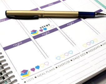 Study Stickers! Perfect for your planner to keep you on track ! #SQ00394