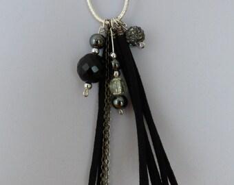 black necklace Eve - Made in FRANCE