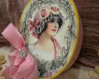 Shabby Chic Oval Decorative Box Vintage Woman