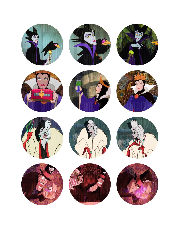 DISNEY VILLAINS Digital collage sheet 1 125 15 and 2