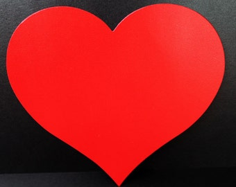 7 inch Paper Heart | Large Paper Heart | Cardstock Heart with Optional Holes | Valentine Cardstock Hearts | 25/set