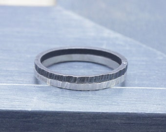 925 stering silver oxidized textured 2 pcs band ring , midi rings, knuckle ring