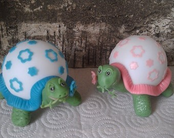 Nightlight TORTOISE. Cold Porcelain