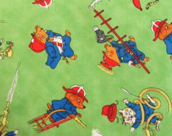 Richard Scarry Busytown cotton woven cotton woven 1 Yard listing