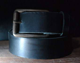 Free Shipping!! 1 1/2 inch Leather belt - men or women leather belt