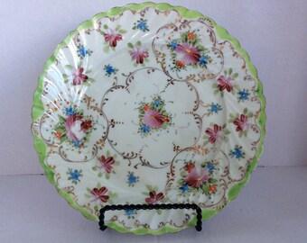 Floral vintage dessert plate
