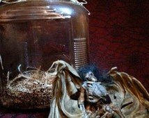 naturally mummified fairy in a jar