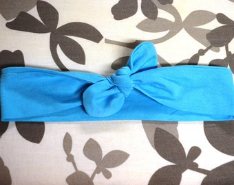 Top Knot Baby Headband - Aqua color