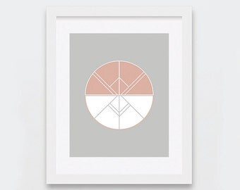 Art Deco Wall Art, Geometric Art Print, Neutral Decor, Modern Wall Art, Abstract Digital Print, Printable Art