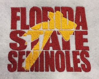 Florida State University cutout Embroidery Pattern