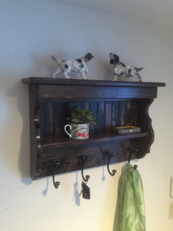 24 Handcrafted Wood Wall Mount Coat Rack Display Shelf
