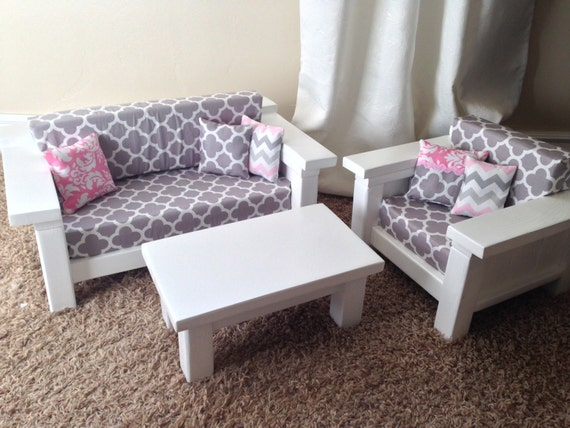 American girl furniture 3 pc living room set by dutchdarling American girl doll living room furniture