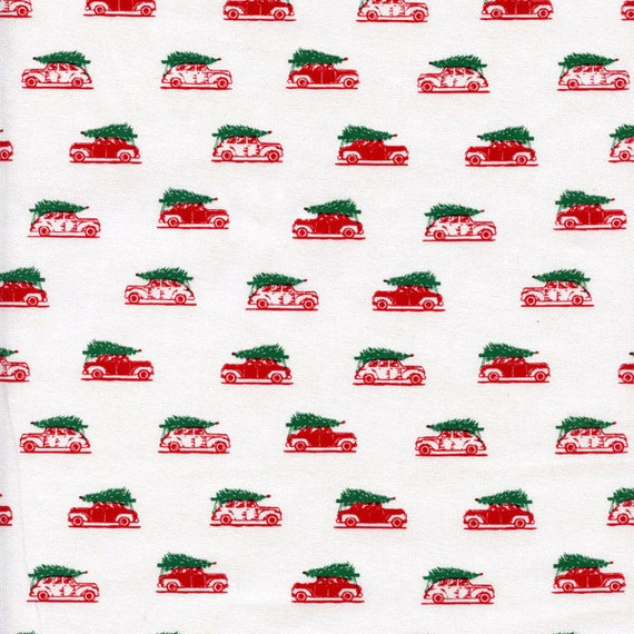 Dear Stella Cars Cotton Fabric 256 Red, By the Yard