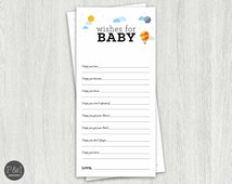 Wishes for Baby/ Baby Shower Book Theme/Instant Download