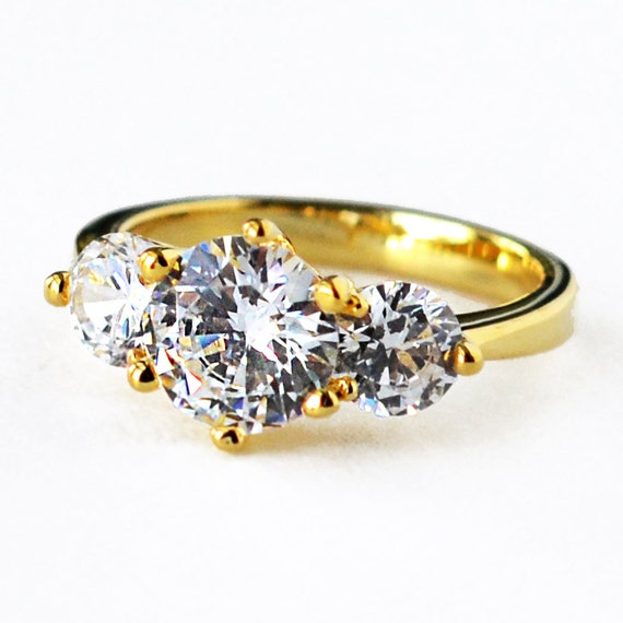 Engagement Ring Wedding Ring Cz Ring Cubic Zirconia