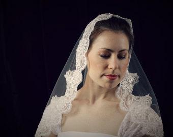 Ivory Mantilla Bridal Veil