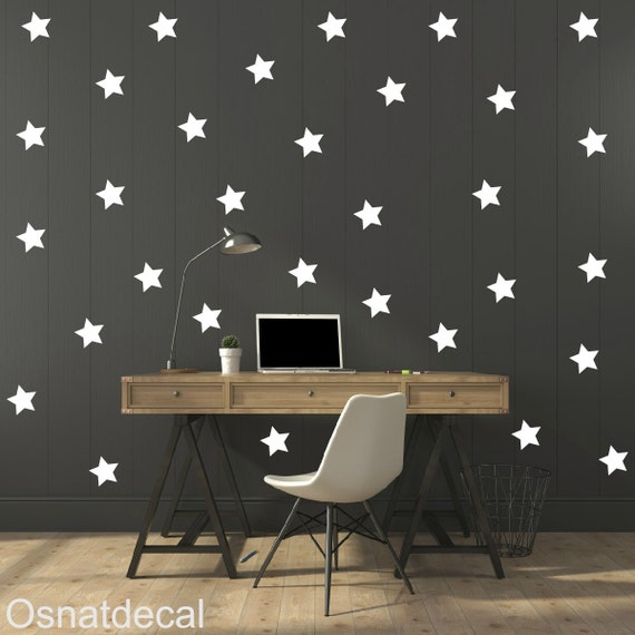 FREE SHIPPING Wall Decal Stars Color White.  Large Quantity 170. Wall Sticker .Home Decor.Nursery. Kids Room