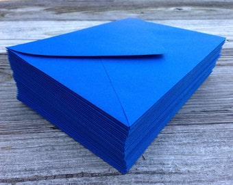 50 Royal Blue A7 5x7  Invitation or A1 (4Bar) RSVP Pointed Flap Envelopes -  Paper Source Envelope