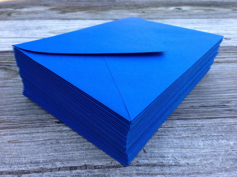 set of 50 royal blue a7 5x7 invitation or a1  4bar  rsvp