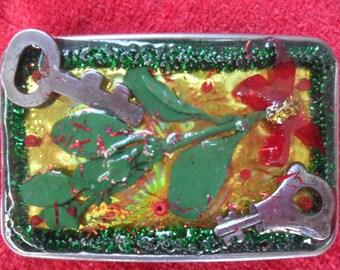 mistletoe belt buckle Christmas belt buckle Xmas belt buckle love belt buckle gag gift prank gift key belt buckle holiday belt buckle